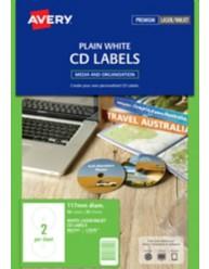 White Full Face CD Labels