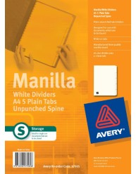 White Unpunched Manilla Dividers