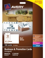 White Business & Promotion Cards