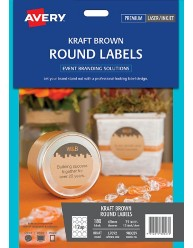 Kraft Brown Round Labels, 60mm dia