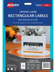 Crystal Clear Rectangular Labels, 96 x 50.8mm