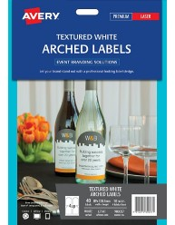 Arched Textured Labels, 89 x 120.7mm