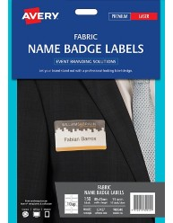 Fabric Name Badge Labels, 88 x 52mm