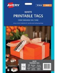 White Printable Tags, 89 x51mm