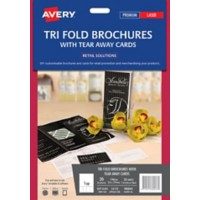 Tri fold brochures with tear away cards 20 pack letter size for Avery tri fold brochure template