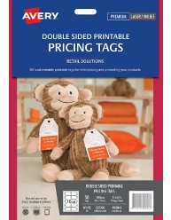 Double Sided Printable Pricing Tags; 50/pack