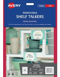 Removable Retail Shelf Talkers; 30/pack
