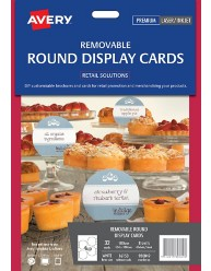 Removable Adhesive Round Display Cards; 32/pack