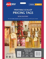 Printable Scallop Pricing Tags; 90/pack