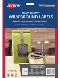 Kraft Brown Wraparound Labels L7145, 180/pack, 190X16mm