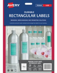 Printable Durable Rectangle Labels on Shampoo Bottle, L7148