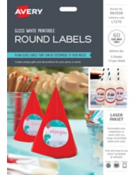Printable Glossy Round Labels 982506, L7270
