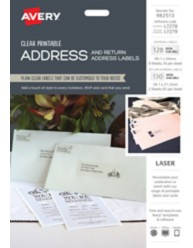 Printable Clear Address Label Kit  982513