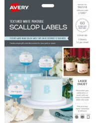 Printable Scallop Labels, 982518, L7283
