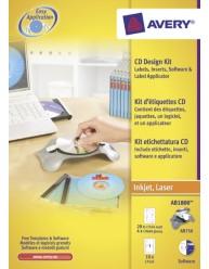 Sistema di etichettatura per CD/DVD, kit completo