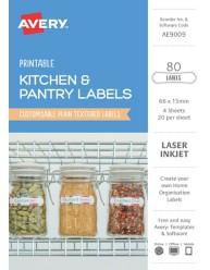 Organisation & Storage, Textured White A5 Home Organisation Labels