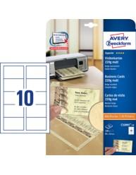 Biglietti da visita marmorizzati beige Quick&Clean™ - stampanti Laser e Inkjet