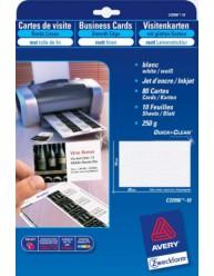 Biglietti da visita tela di lino Quick&Clean™ stampabili fronte/retro - stampanti Laser e Inkjet