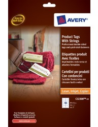 Product Tags with Strings, 89 x 51 mm
