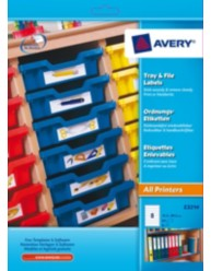 Removable Tray & File Labels, 155 x 35 mm