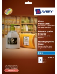 Glossy Product Labels, rectangular, 62 x 42 mm