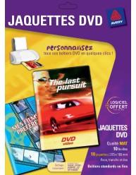 Jaquettes pour boîtiers DVD, face, tranche et dos