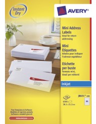 White Mini Inkjet Labels, Value Pack,