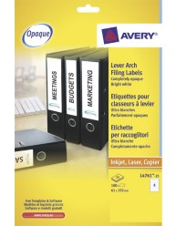 Lever Arch Filing Labels