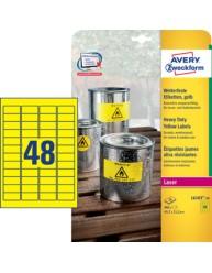 Etichette gialle in poliestere - 45,7 x 21,2 mm