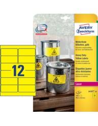 Etichette gialle in poliestere - 99,1 x 42,3 mm