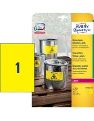 Etichette gialle in poliestere -  210 x 297 mm
