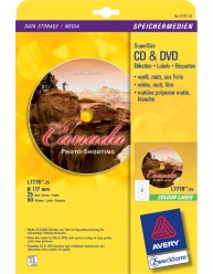 Full Face CD/DVD Label Colour Laser