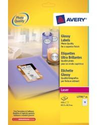 Etichette Glossy ovali -  63,5 x 42,3 - 18 etichette per foglio