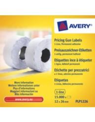 Etichette per prezzatrici a 1 linea - adesivo permanente