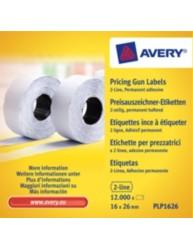 Etichette per prezzatrici a 2 linee - adesivo permanente