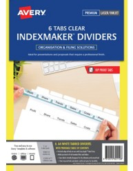 White IndexMaker Dividers