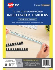 Translucent Unpunched Dividers with Clear Labels