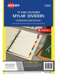 Multi-coloured Rewritable Tab Dividers