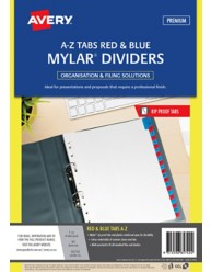Red & Blue Mylar Tab Dividers