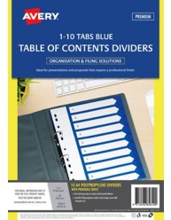 Blue Polypropylene Dividers