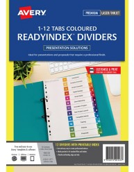 Multi-coloured ReadyIndex Dividers