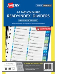 Multi-coloured Double Column ReadyIndex Dividers
