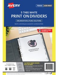 White Print On Dividers