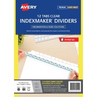 Avery 12 Tab Template. skilcraft labels. templates ready index ...