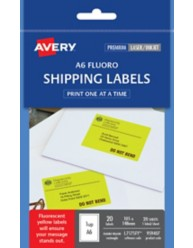 A6 Fluoro Yellow Shipping Label