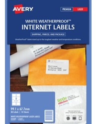 WeatherProof Internet Shipping Labels