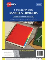 Bright Multi-coloured Manilla Dividers