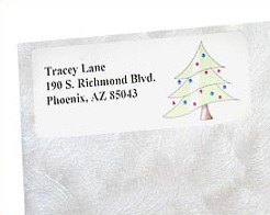 Create Holiday Return Address Labels