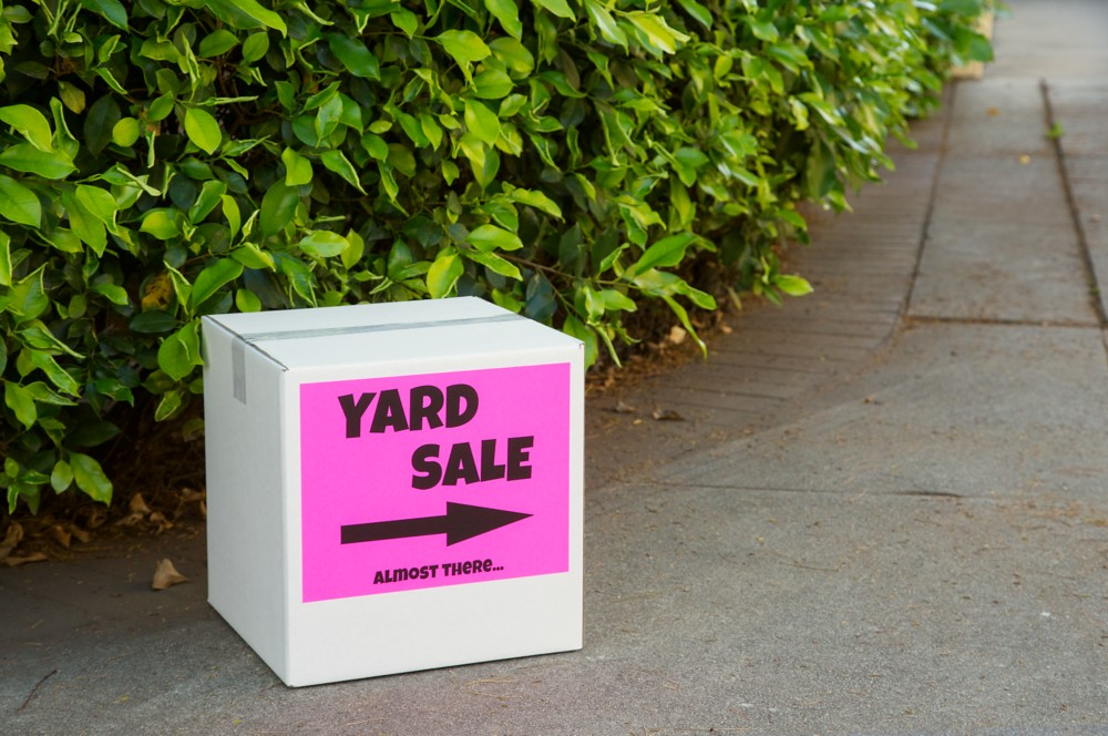Make your signs pop with bright, fluorescent signage. Use durable posterboard or neon shipping labels attached to cardboard.