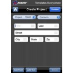 Avery Templates Everywhere App Create Project Screen